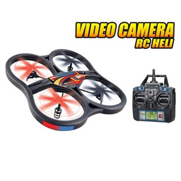 World Tech Toys Panther UFO Spy Drone 4.5ch RC Quadcopter with Video Camera
