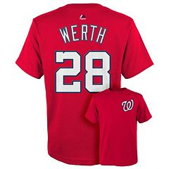 Boys 8-20 Majestic Washington Nationals Jayson Werth Player Name and Number Tee