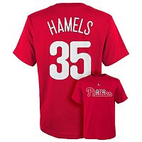 Boys 8-20 Majestic Philadelphia Phillies Cole Hamels Player Name and Number Tee