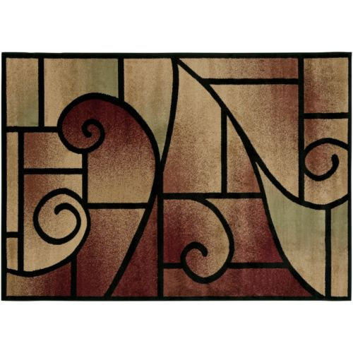 L.R. Resources Geometric Vine Rug
