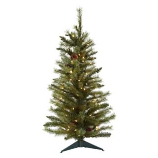 nearly natural 3-ft. Pre-Lit Pine Cone Artificial Christmas Tree