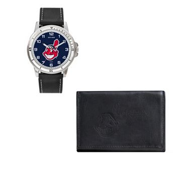 Cleveland Indians Watch & Trifold Wallet Gift Set
