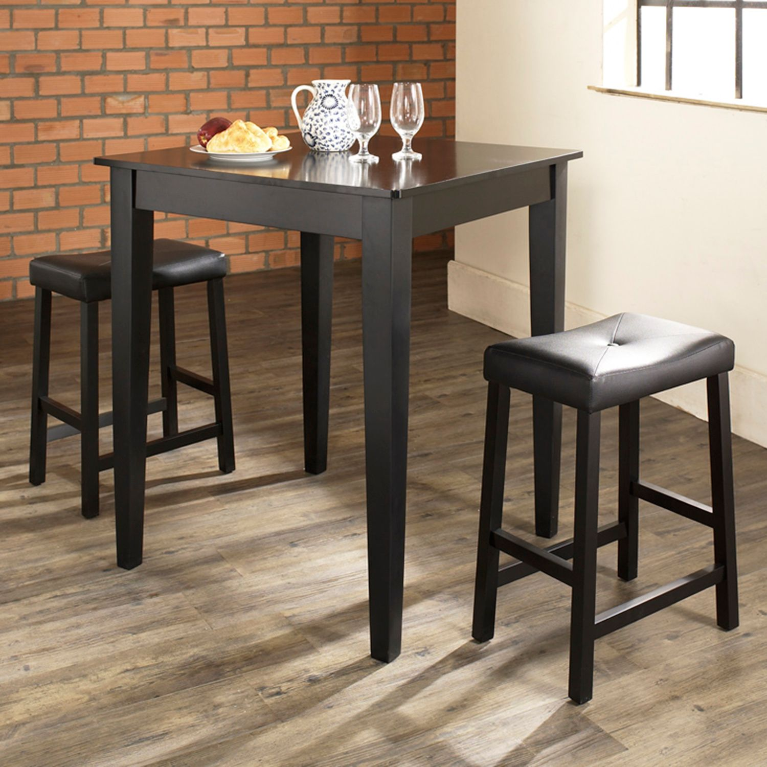 Superbe Crosley Furniture 3 Piece Tapered Leg Dining Set