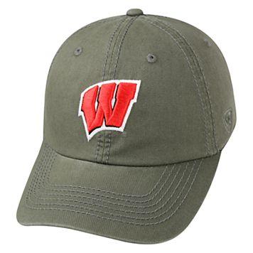 Adult Top of the World Wisconsin Badgers Crew Adjustable Cap
