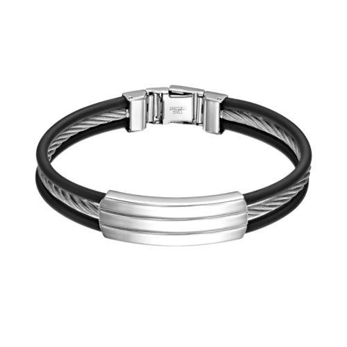 Steel City Stainless Steel Cable Bracelet - Men