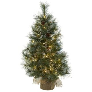nearly natural 3-ft. Pre-Lit Frosted Tips Artificial Christmas Tree