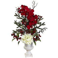 nearly natural Holiday Elegance Artificial Flower Arrangement