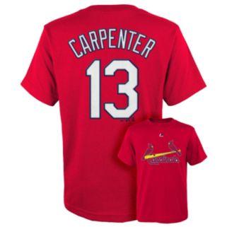 Boys 8-20 Majestic St. Louis Cardinals Chris Carpenter Player Name and Number Tee
