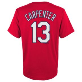 Boys 8-20 Majestic St. Louis Cardinals Chris Carpenter Player Name and Number Tee