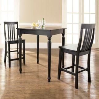 Crosley Furniture 3-piece Turned Leg Dining Set