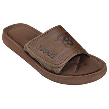 Adult Syracuse Orange Memory Foam Slide Sandals
