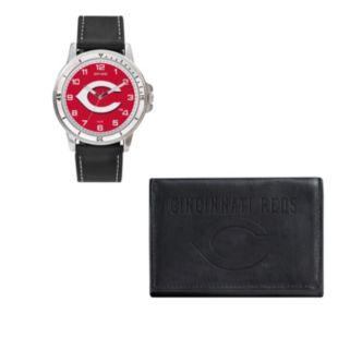 Cincinnati Reds Watch & Trifold Wallet Gift Set