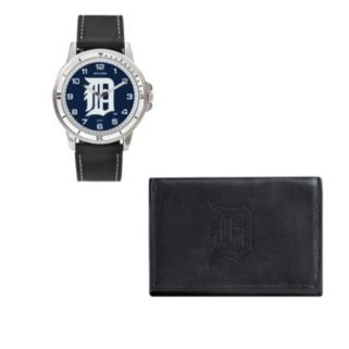 Detroit Tigers Watch & Trifold Wallet Gift Set