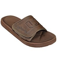 Adult Miami Hurricanes Memory Foam Slide Sandals