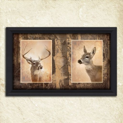 ''Classic Whitetails'' Framed Wall Art