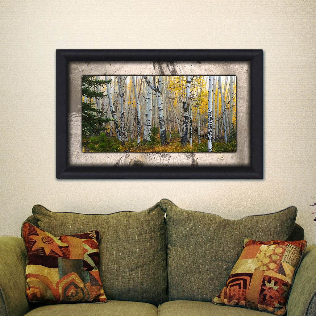 ''Aspen Grove'' Framed Wall Art