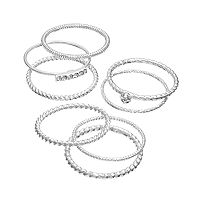 LC Lauren Conrad Twist Stack Ring Set