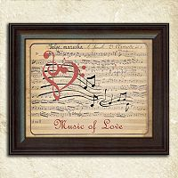 ''Music of Love'' Framed Wall Art