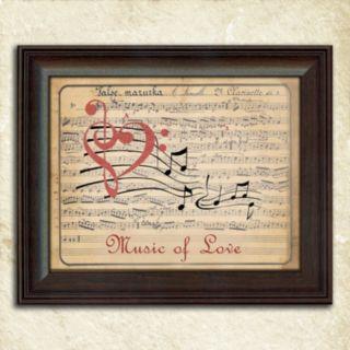 ''Music of Love'' Framed Wall Art