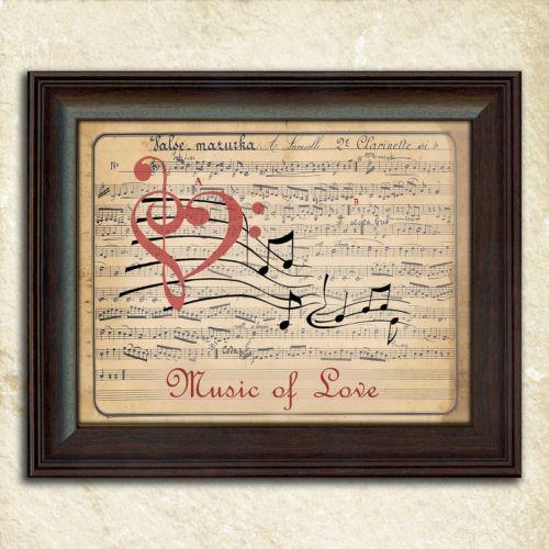 """""""Music of Love"""" Framed Wall Art"""