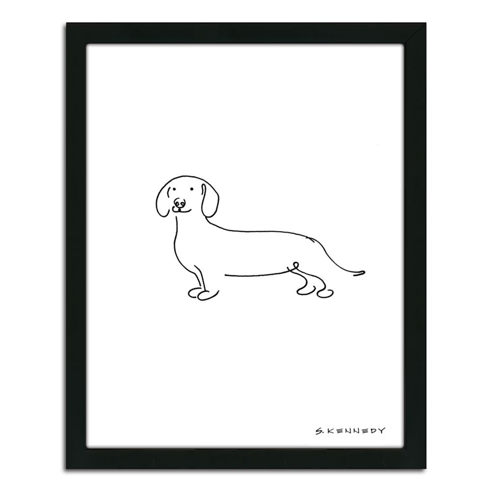 Dachshund Wall Art dachshund line drawing'' framed wall art