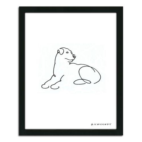 """Rottweiler Line Drawing"" Framed Wall Art"