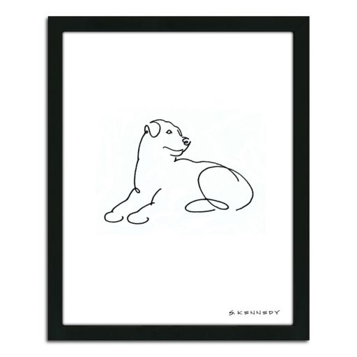 ''Rottweiler Line Drawing'' Framed Wall Art