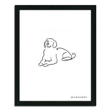 ''Labrador Line Drawing'' Framed Wall Art