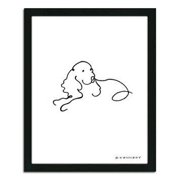 ''Spaniel Line Drawing'' Framed Wall Art