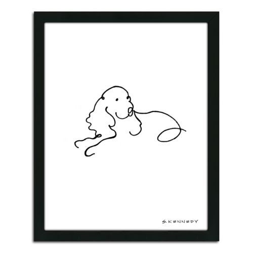 ''Spaniel Line Drawing'' Frame...
