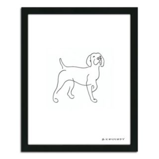 ''Pointer Line Drawing'' Framed Wall Art