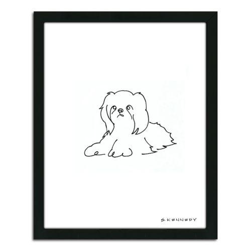 ''Shih Tzu Line Drawing'' Fram...
