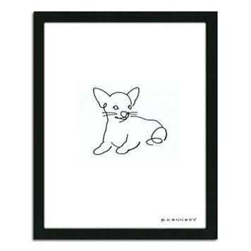 ''Chihuahua Line Drawing'' Framed Wall Art