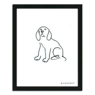 ''Beagle Line Drawing'' Framed Wall Art