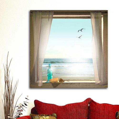 ''Message in a Bottle'' Canvas Wall Art