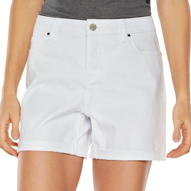 Jennifer Lopez Cuffed Jean Shorts - Women's
