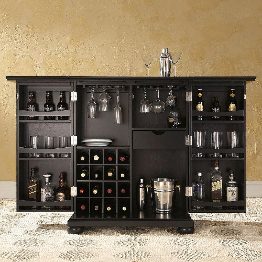 Crosley Furniture Alexandria Expandable Bar Cabinet