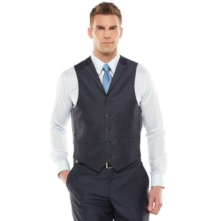 Men's Steve Harvey Modern-Fit Blue Shantung Vest