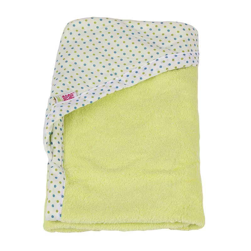 Minene Newborn Hooded Towel, Green