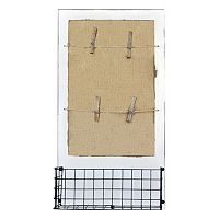 Belle Maison Mail Holder Burlap Wall Decor
