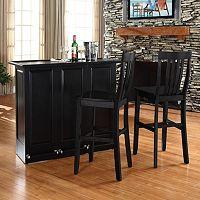 Crosley Furniture 3-piece Mobile Folding Bar & Stool Set