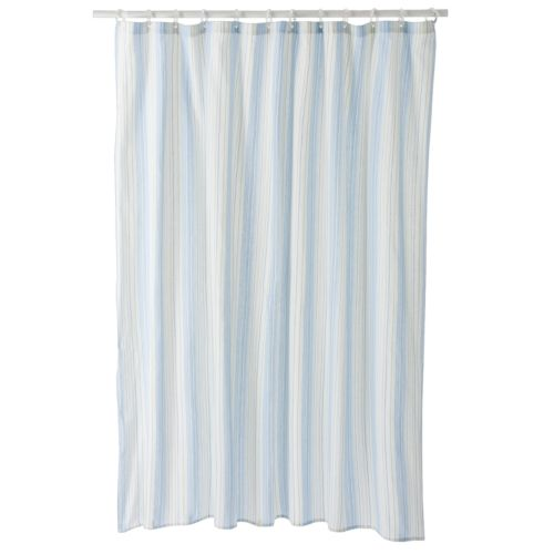 Home Classics® Meridian Striped Fabric Shower Curtain