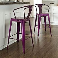 Crosley Furniture 2-piece Amelia Bar Chair Set