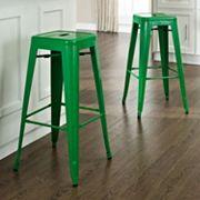 Crosley Furniture 2 pc Amelia Cafe Bar Stool Set