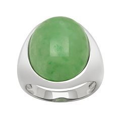 Jade Sterling Silver Ring