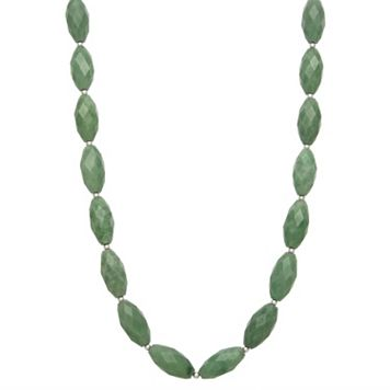 Jade Sterling Silver Necklace