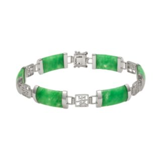 Jade Sterling Silver Bracelet
