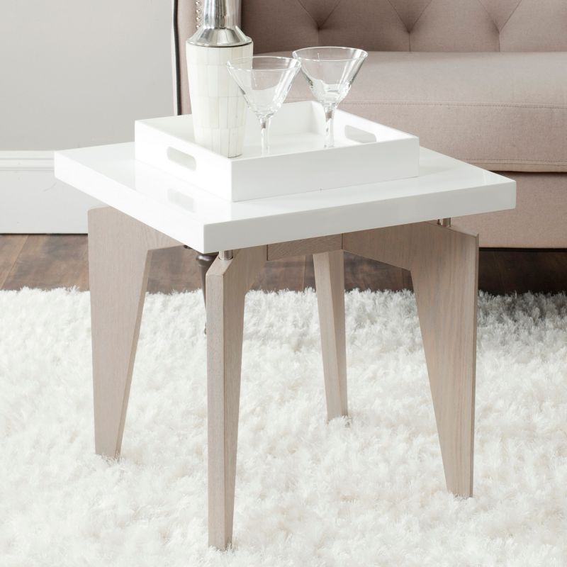 Safavieh Josef End Table, White