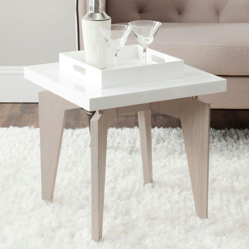 Safavieh Josef End Table, White