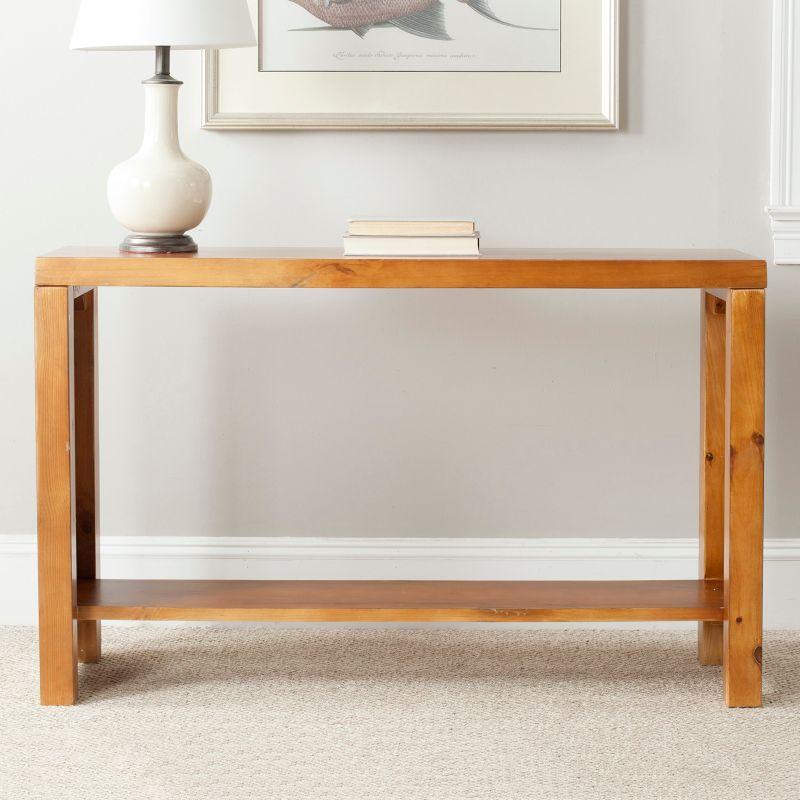 Safavieh Living Room Tables Lahoma Light Oak Console Table AMH6541F
